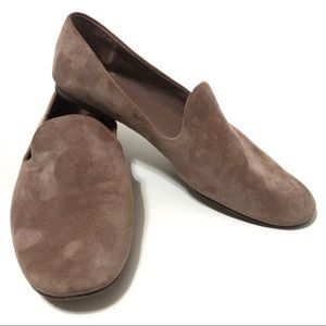 VINCE Milo Suede Loafers Flat Shoes Slip On